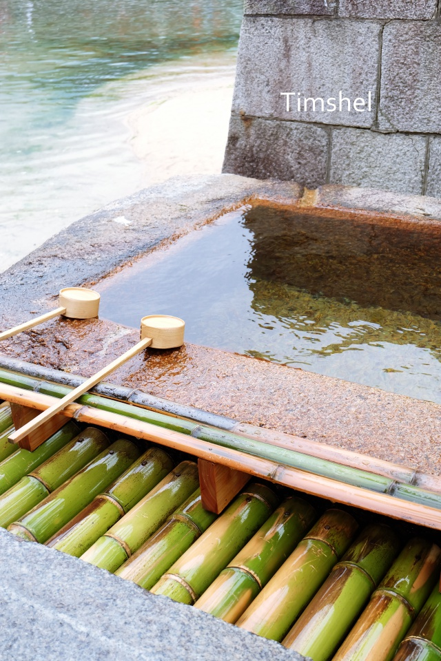 厳島神社の手水