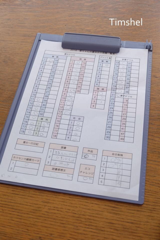 夏休みの宿題1